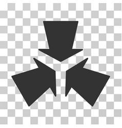 Shrink arrows icon vector