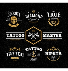Tattoo Studio Emblems vector image vector image