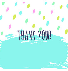Thank you greeting card vector