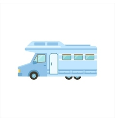 Travel Van Icon Family Motorhome Flat Colorful vector image
