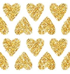 Valentines day heart glitter pattern vector