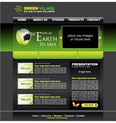 website green template vector image vector image