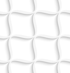 White diagonal wavy net seamless pattern vector image vector image