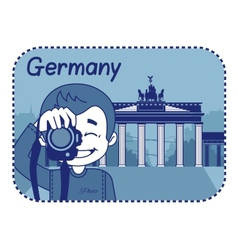 With brandenburg gate in berlin vector