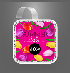 Wobbler design template summer sale with bright vector