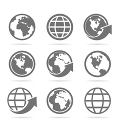 World an icon vector