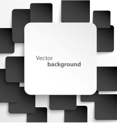 Paper square banner with drop shadows vector image