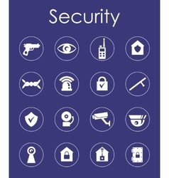 Set of security simple icons vector image