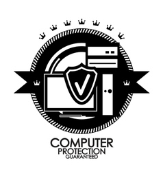 Black retro vintage label  tag  badge  computer vector