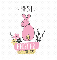 easter greeting card - best easter greetings vector image