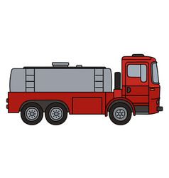 Red tank truck vector