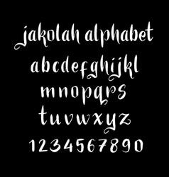 Jakolah alphabet typography vector