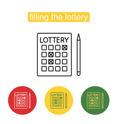 Lottery line icon editable stroke vector
