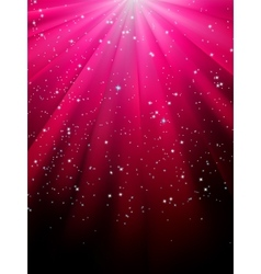 Stars on red striped background eps 8 vector