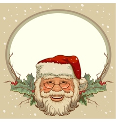 The head of santa claus template cards for vector