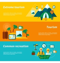 Tourist banner set vector