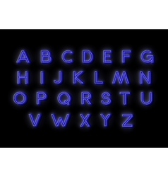 Neon alphabet for your design vector