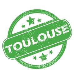 Toulouse green stamp vector