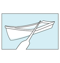 Row boat vector