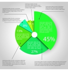 Abstract pie chart graphic vector