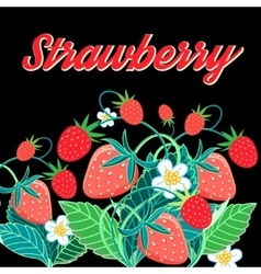 a bright tasty strawberry vector image