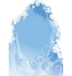 Frozen Christmas Background vector image