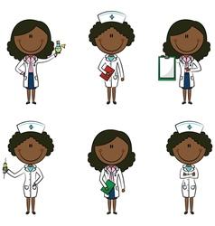 African-american doctor vector