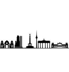 berlin city skyline germany vector image