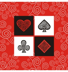 Cards pattern background vector image