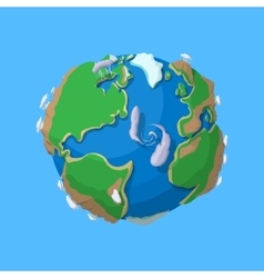 Cartoon earth isolated vector