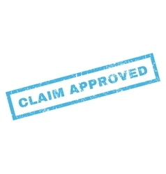 Claim approved rubber stamp vector