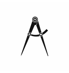 Compass tool icon simple style vector