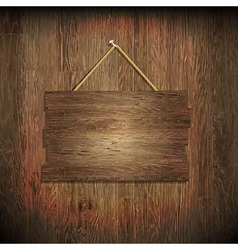 Dark wood texture with wood board vector