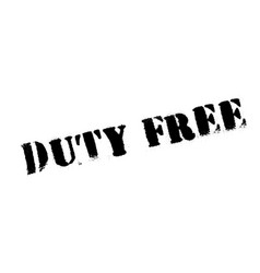Duty free rubber stamp vector