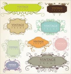 elegance vintage frames vector image