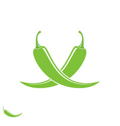 green pepper vector image vector image