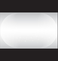 halft sphere white backgrounddotcurvemodern vector image