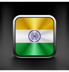 India icon flag national travel icon country vector image vector image
