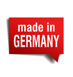 Made in germany red 3d realistic speech bubble vector
