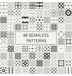Mega set of 88 monochrome geometric universal vector image