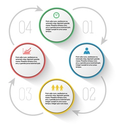 Menu template diagram process report company vector