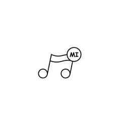 Mi note icon vector