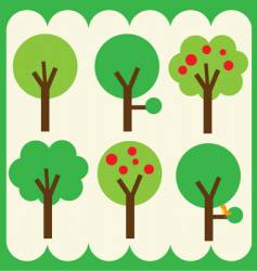 simple trees vector image
