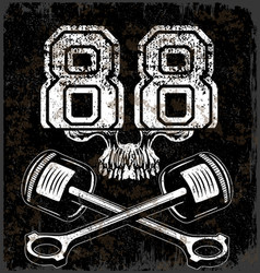 Skull tee graphic design vector