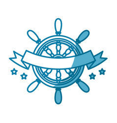 steering ship boat vector image