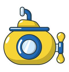 submarine ocean icon cartoon style vector image vector image