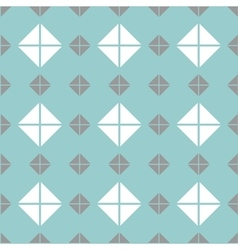 Tile mint green grey and white pattern vector