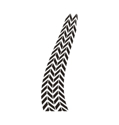 tire tracks mark isolated icon vector image vector image