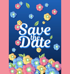 wedding floral template wedding invitation vector image