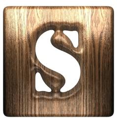 wooden figure s vector image vector image